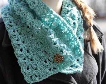 Lacy Cowl Neck Warmer Crochet PDF Pattern Instant Download Adult Teen
