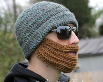 Custom Order for an Adult Bearded Hat Crocheted in  your choice of Colors