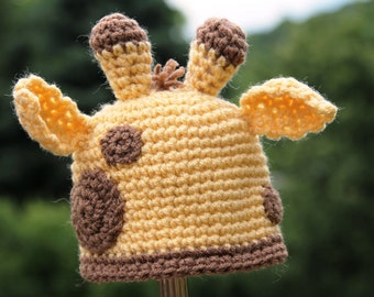 Baby Animal Crochet Hat Giraffe Hat Crochet Pattern for Baby  Photo Prop PDF Jungle Animal Baby Instant Download