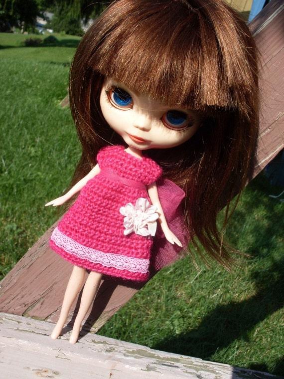 Pattern Directions for making a Blythe Doll Empire Dress Crochet PDF Pattern