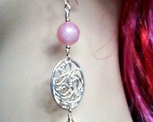 Tea Rose Earrings --- Free Shipping in United States