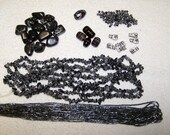 Genuine Snowflake Obsidian Collection - Assorted beads
