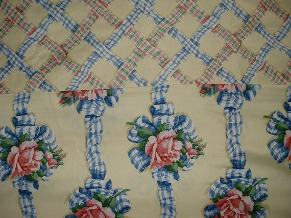 12 Yards Waverly Taffeta Roses Ribbon Coordinating Fabric