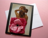 SALE Hey pinup- mature blank note card (Valentines Day)