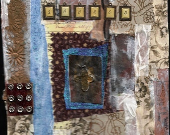 Sacred-fabric collage
