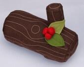 Felt Food Yule Log or Buche De Noel