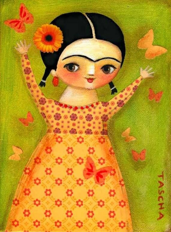 ORIGINAL canvas painting Frida Kahlo Springtime by tascha