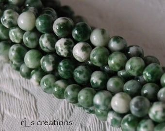 Tree Agate 4mm Rounds 16IN Strand