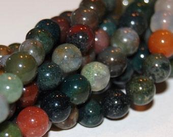 Fancy Jasper 8mm Round Beads 16IN Strand
