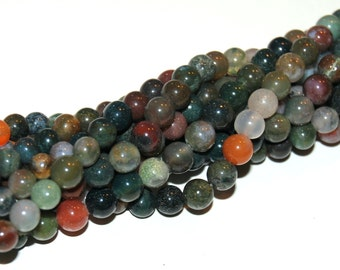 Fancy Jasper 6mm Round Beads 16IN Strand