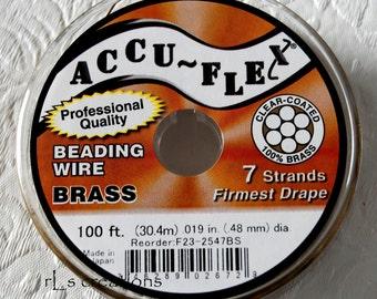 Accu-Flex 7 Strand .019 Clear Coated Brass 100ft