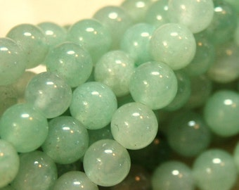 Aventurine Green 4mm Rounds 16in Strand