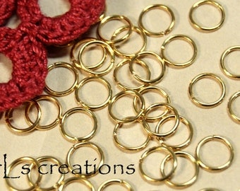 Jumprings 7MM 18GA Gold Plated