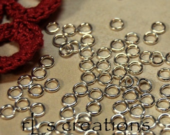 Jumprings 4MM 20GA Silver Plated