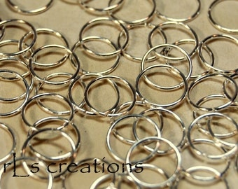 Jumprings 12MM 18GA Silver Plated