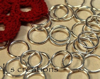 Jumprings 10MM 18GA Silver Plated