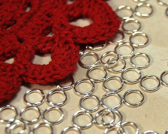 Jumprings 5MM 20GA Silver Plated Brass