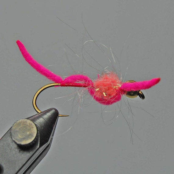 San Juan Worm with Egg Pattern-Hot Pink-Set/2- for the FISHERMAN in the Family - Combined Shipping