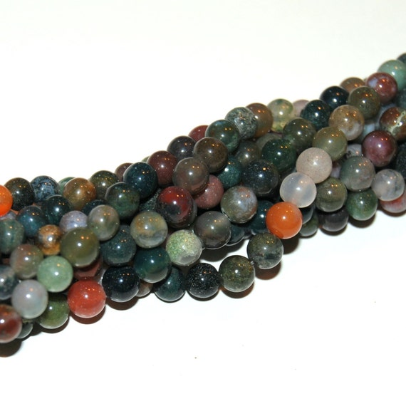 Fancy Jasper 6mm Round Beads 16IN Strand