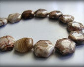 Crazy Lace Agate 15mm Hexagon Bead (Qty 2)