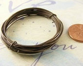 10 Feet Antiqued - Oxidized Pure Brass Wire 22ga Dead Soft -- Made to Order