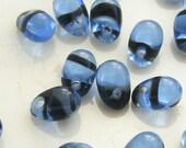 Czech Glass Teardrop Beads 6x4mm Glass Beads Sapphire Tortoise (20pk) SRB-6x4D-ST