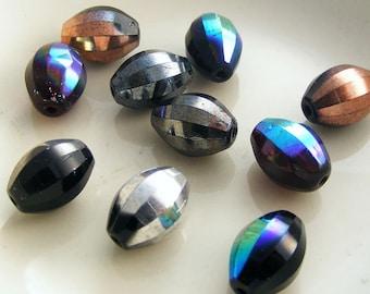 Global Melon Czech Glass Bead Mix 12x9mm Multicolor Glass Bead Assortment (10 pk)