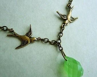 Sea Green Briolette Necklace