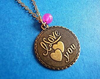 I Love You Retro Necklace