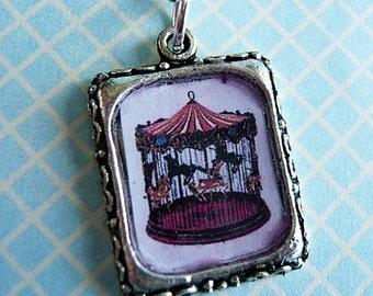 Whimsical Carousel Fair Ground Necklace