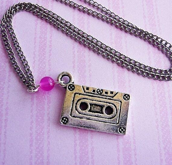 Retro Recording Cassette Necklace