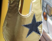 Gold Lame shiny star bib for your rocker baby
