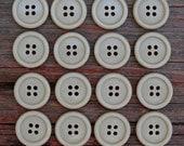 Sixteen 13/16-inch Sage Green Buttons