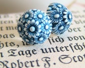 Vintage Navy Clusters - Sterling Silver Studs