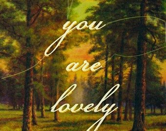 You are Lovely Post card set