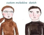 reserved! custom moleskine sketch