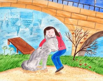 wolf - original watercolor illustration
