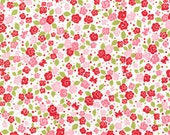 Michael Miller Strawberry Tea Party small floral red pink cotton quilting fabric by the yard