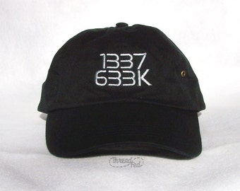 1337 Embroidered Cap - Leet Geek