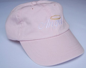 Embroidered Child (or adult) Size Cap - Angel with Horns