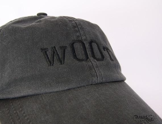 w00t Embroidered Cap in Dark Grey