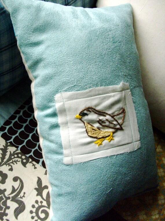 Bird Patch Throw Pillow
