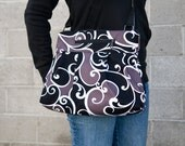 iPad Purse Kindle Handbag iPad Shoulder Bag Nook Purse Padded Electronics Pocket MEDIUM HOBO BAG London Fabric
