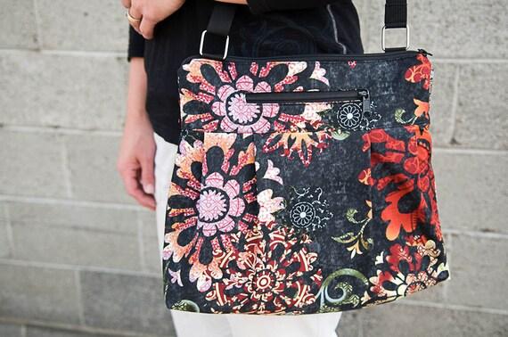 iPad Case ipad Purse Kindle Handbag iPad Shoulder Bag Nook Purse Padded Electronics Pocket MEDIUM HOBO BAG Breath of Ashes Fabric