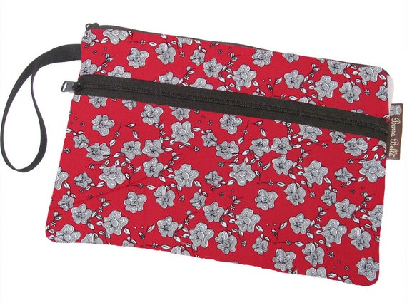 Kindle Case / Nook Color Cover / Kindle Bag / Kindle cover /  Front Pocket - DELUXE eREADER ROO Rolling Red Fabric