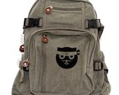 Backpack Ninja Kitty, Rucksack, Knapsack, Cat Backpack, Kung Fu Watson the Cat, Canvas Backpack, Kawaii Weekender Bag, Women & Men Backpack