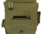 Messenger Bag - Drop the Needle - Carry-All Messenger Bag - Army Green