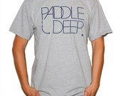 Surf T-Shirt - Men - Paddle Deep - Heather Gray  -  Available Sizes: Small, Medium, Large, or X-Large