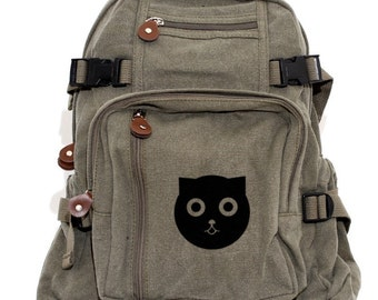 Backpack: Watson the Cat (Men & Women) Canvas Backpack