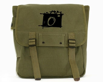 Backpack Sketch Camera, Durable Canvas Backpack, Camera Bag, Rucksack, Bag Men, Women's Backpack, Hipster Backpack, Diaper Bag Backpack